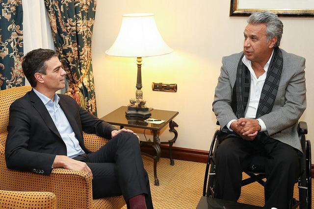 Pedro Sánchez se reúne con el Presidente de Ecuador, Lenín Moreno